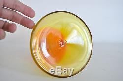 16 BLENKO HUSTED Vtg Mid Century Modern Amberina Glass Decanter Bottle 6122-s