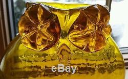 1958 BLENKO GLASS WAYNE HUSTED OWL VASE