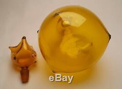 1959 Wayne Husted Handblown Glass Blenko Jonquil Wart Decanter 5912 rare