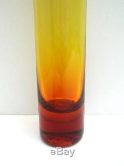 1960's Blenko #6427 22 Tangerine Vase with Stopper (30)