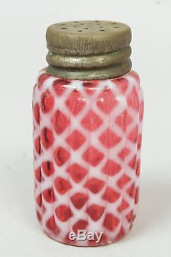 19c Group of 8 Hobbs Brockunier Art Glass Salt Pepper Shakers incl Opalescent