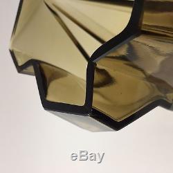 #2 Ruba Rombic Vase 6 1/2 Consolidated Lamp & Glass Company Smoky Topaz
