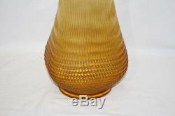 35 Vintage Oversized 1960's Gold Hobnail Swung Style Vase Bio-Morphic shape