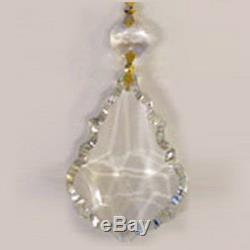 65 FRENCH CUT REPLACEMENT CRYSTAL PRISMS Feng Shui FREE SHIPPING