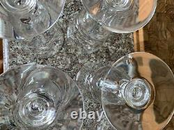 (6) 7877 by STEUBEN Glasses Baluster Stem 5 1/8 Wine Glass with Felt Bags Box