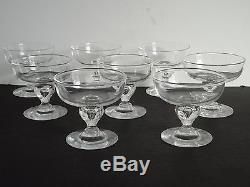 8 STEUBEN Glass 3 1/2 Dimple Whiskey Tumblers Old Fashioned Teardrop Cocktails