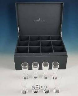8 Steuben Art Glass Crystal #8055 Cordial Shot Liqueur Mid Century Barware Set