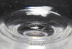8pc set Steuben Crystal Dessert Glasses Compotes. Reverse encased'water drop