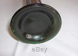 Antique Fenton Amethyst Carnival Glass Swung Vase Plume Panel RARE