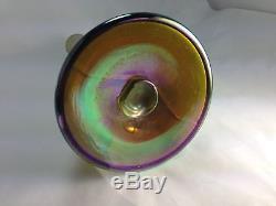 Antique Louis Comfort TIFFANY 1907 Gold Favrile Glass 12 Vase Signed
