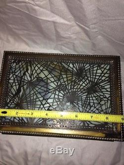 Antique Tiffany Studios Pine Needle Cigar Humidor RARE Slag Glass Box 9x6