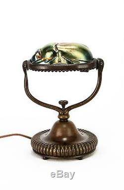 Antique Tiffany Studios Scarab Desk Lamp ca1910