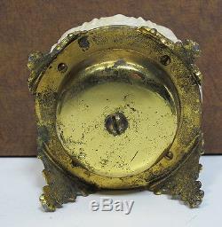 Antique Victorian Art Nouveau Wavecrest Mechanical Footed Front Desk Bell yqz