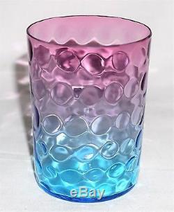 Antique Victorian Hobbs Brockunier Ruby Sapphire Glass Polkadot Tumbler