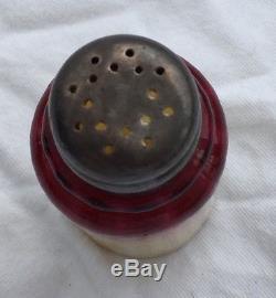 Beautiful 1880's Wheeling Peachblow Cased Red Yellow Shaker Salt Or Pepper Hobbs