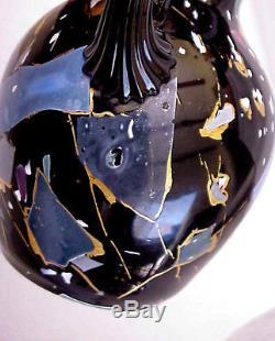 Beautiful Mount Washington Lava Glass Vase, Circa 1878-1880