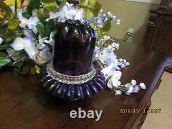 Beautiful Rare Fenton Fairy Lamp 3 Piece Purple Rare
