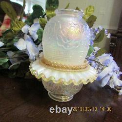 Beautiful Rare Fenton Fairy Lamp Persian Medallon