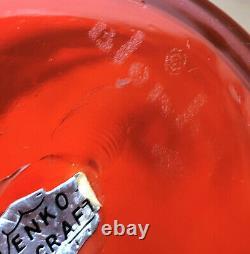 Blenko 5826-M Tangerine Bottle Wayne Husted 1958 Genie