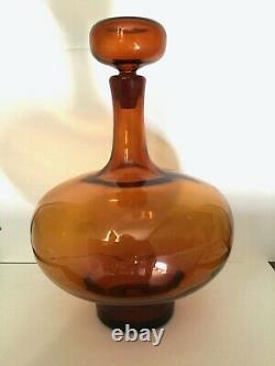 Blenko 6521 Myers Honey Decanter
