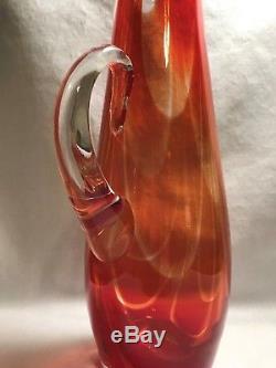 Blenko Charisma Pitcher 16 inch #7213 Nickerson design