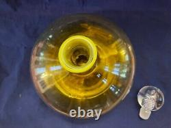 Blenko Decanter by Joel Myers with Air Twist Stopper Oversized Art Glass Decante