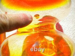 Blenko Ellipse Tall Decanter Tangerine 7119