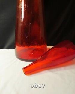 Blenko Floor Decanter #6138 in Red
