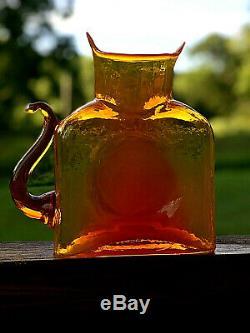 Blenko Glass Cat Water Bottle 384