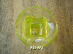 Blenko Glass Vaseline Eureka Piece Limited Edition