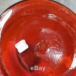 Blenko Glass Wayne Husted Chess Piece Decanter 5929S in Tangerine Signed