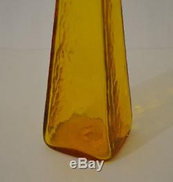 Blenko Jonquil Yellow Decanter /bottle # 604