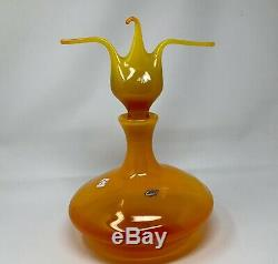 Blenko Paw Paw Decanter One Of A Kind