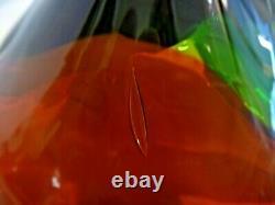 Blenko RARE Tri-Color Lobe Bowl 5831 Wayne Husted 1958