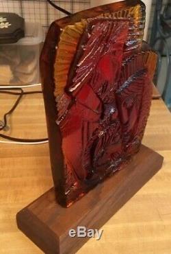 Blenko Vintage Art Glass, Holy Trinity, Tangerine in color, no chips