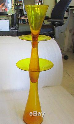 Blenko Wayne Husted 3 Part Epergne #5832 Architectural Scale 35 Rare 1958