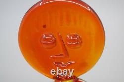 Blenko Wayne Husted Tangerine Lady Glass Decanter with Stopper 6525