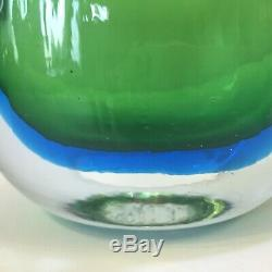 Blenko sommerso glass vase signed by Joel Philip Myers EUC MCM 1960s