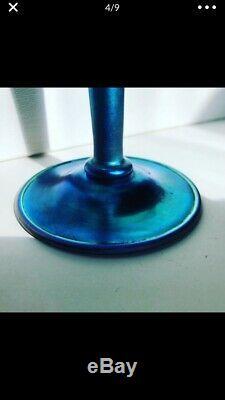 Carder Steuben Blue Aurene Vase # 2839