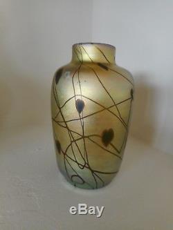Carder Steuben Millifiori Decorated Aurene Vase