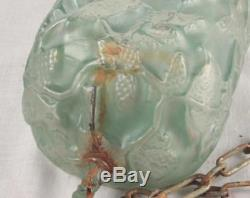 Consolidated Phoenix Glass Cardinal Pine Cone Green Hanging Light Fixture Shade
