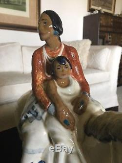 Cowan Pottery -F Luis Mora Navajo Mother 1930 VERY RARE