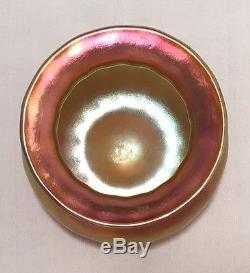 Diminutive Quezal Gold Cabinet Vase American Art Glass NR