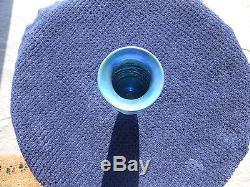 Durand Blue Threaded Vase