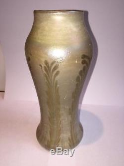 EARLY TIFFANY CIRCA 1895 FAVRILE GLASS VASE CORONA See Description. NO RESERVE
