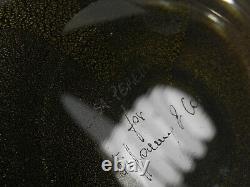 ELSA PERETTI for Tiffany & Co. Thumbprint Bowl Venetian Glass 24k Gold Flecks