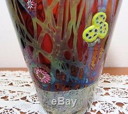 Exquisite Rare Antique Lct Tiffany Favrile Millefiori Art Glass Vase 12