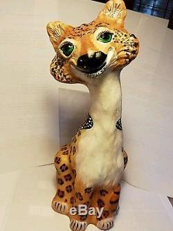 Fenton Alley Cat Opal Satin Hand Painted Ooak Kitterfly