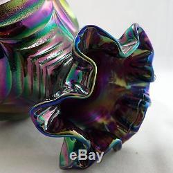 FENTON Art Glass Carnival Glass Drapery Vase Circa 1969 8