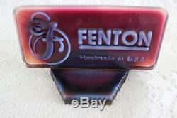 Fenton Glass Opalescent Plum Logo Dealer Display Sign 10th Jamboree 1994 (c)